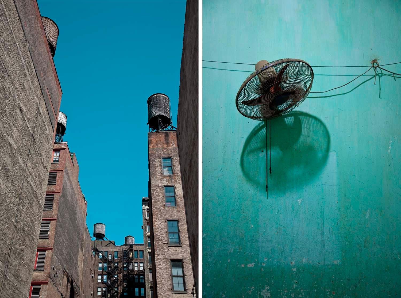New York Water Towers/Vietnam Blue Wall