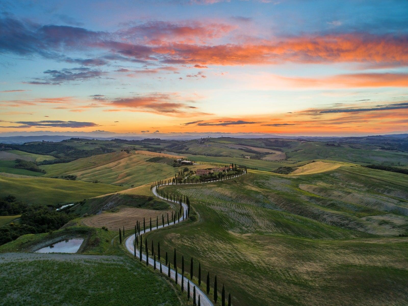 Landscape golden hour