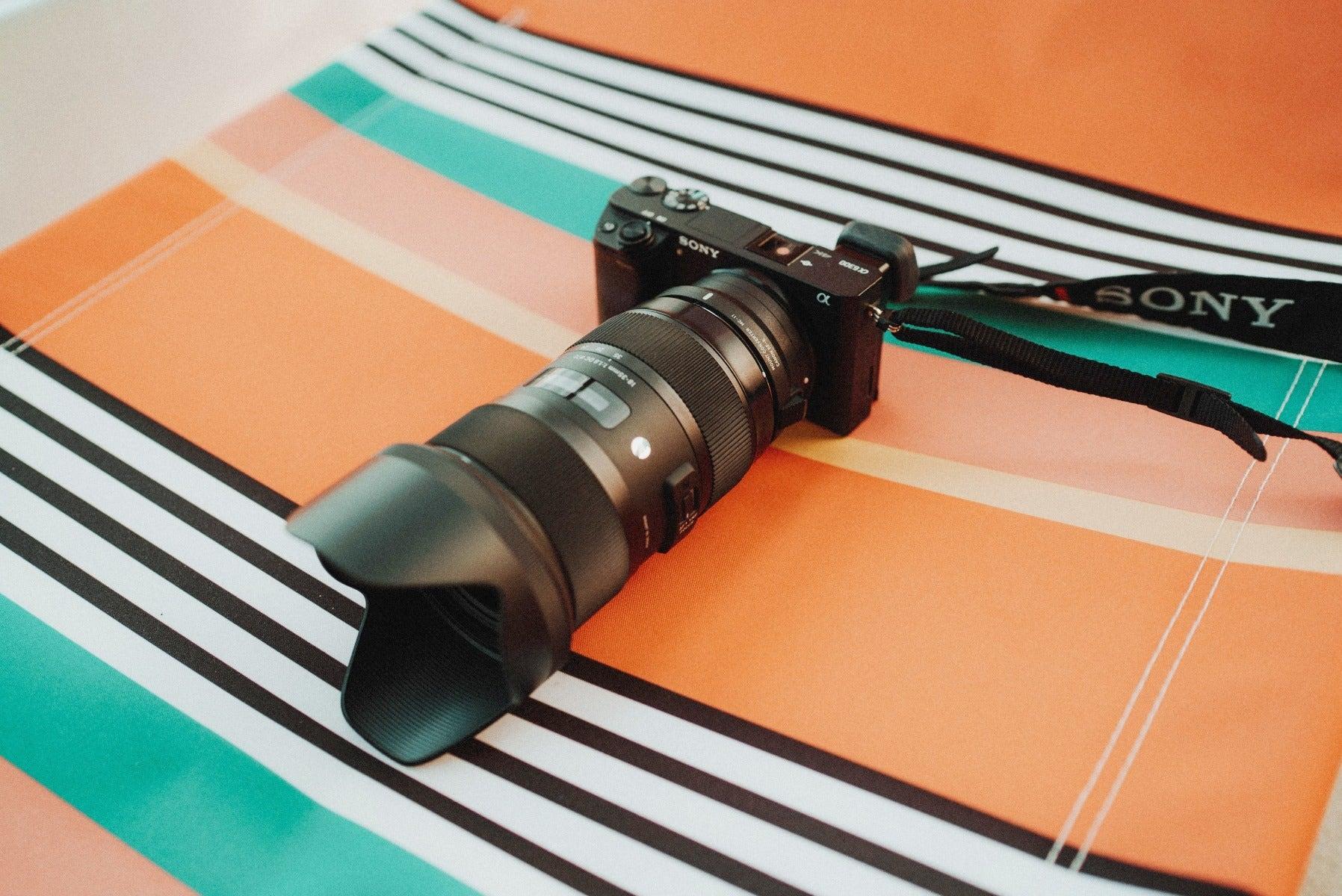 Sigma zoom lens on a Sony camera