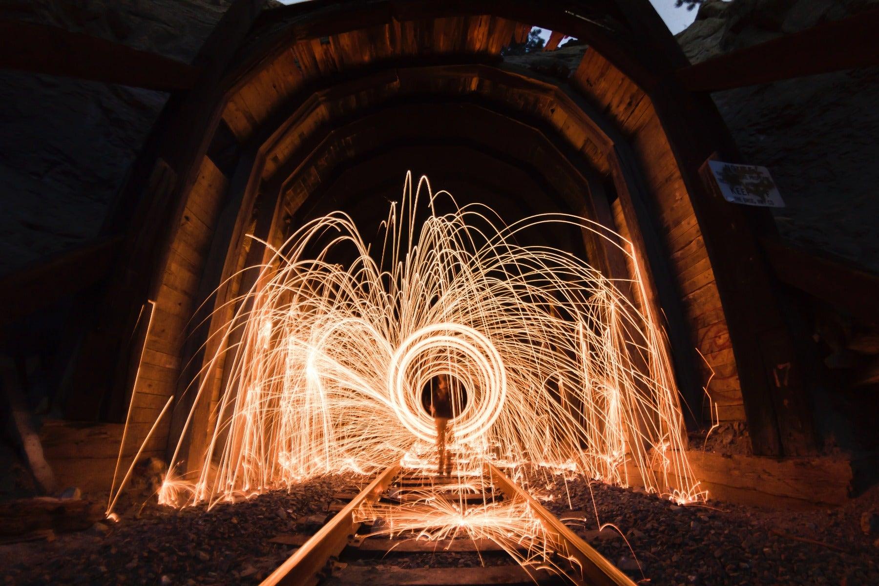 Steel wool with a long shutter speed