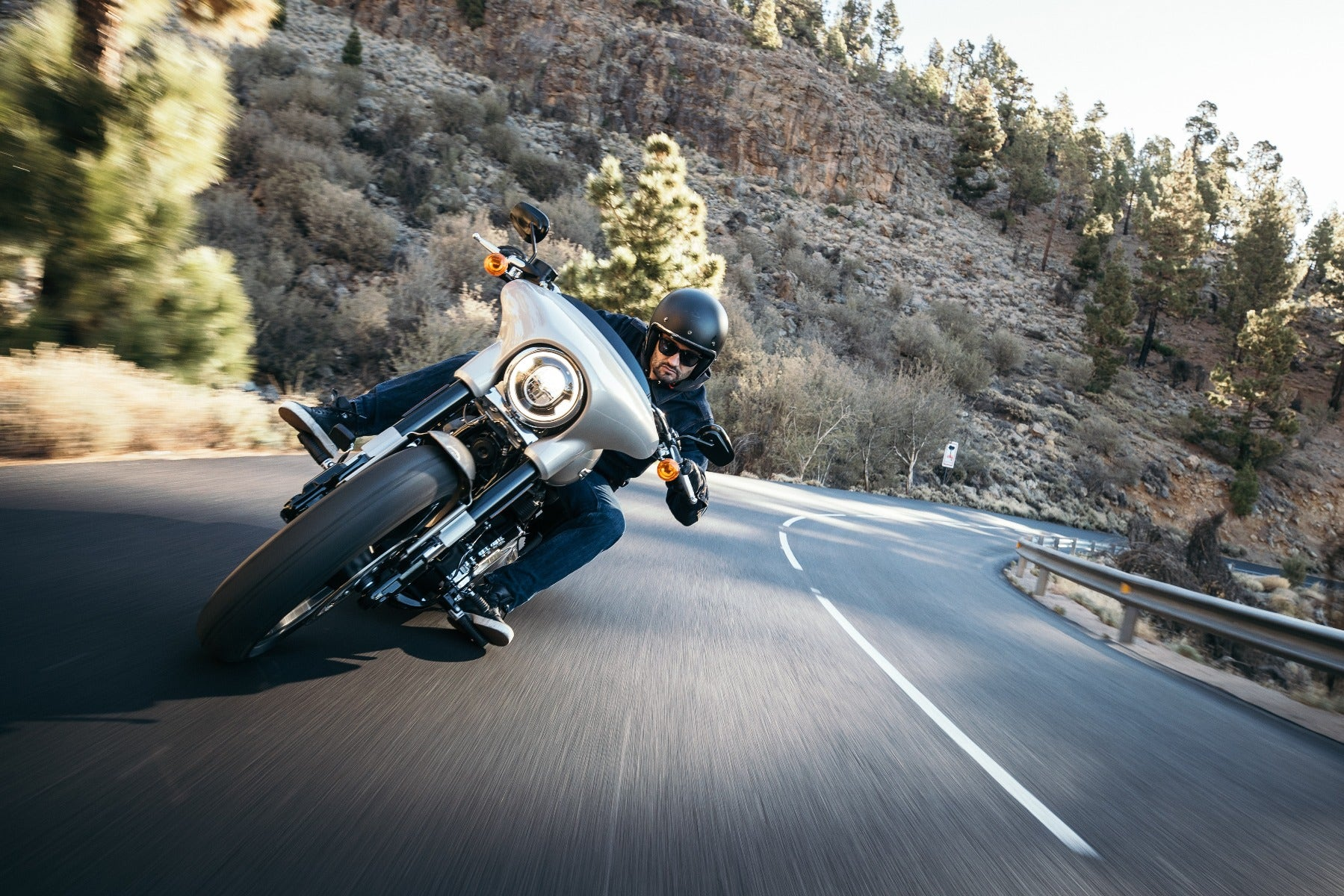Motorcycle with motion blur