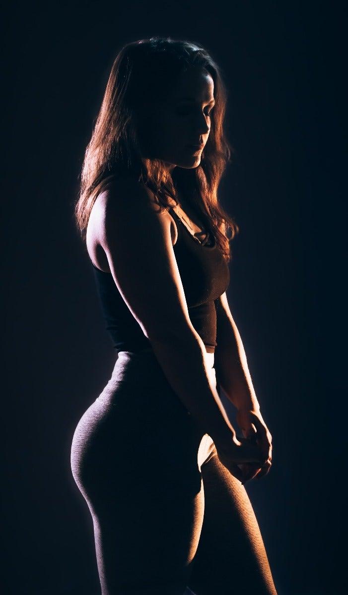 Women lit by side flash