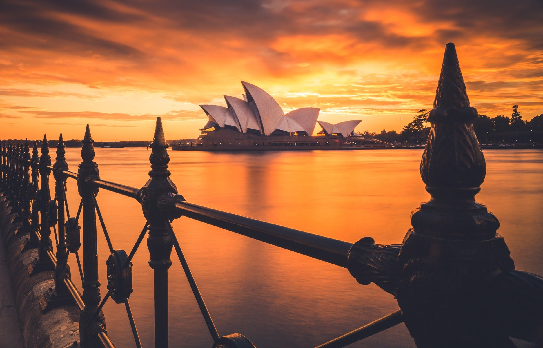 Sydney Opera House with polarising filter at sunset