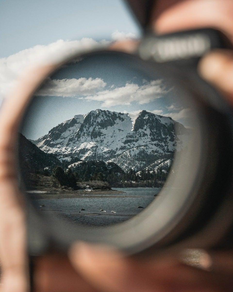 Mountain through a polarising filter