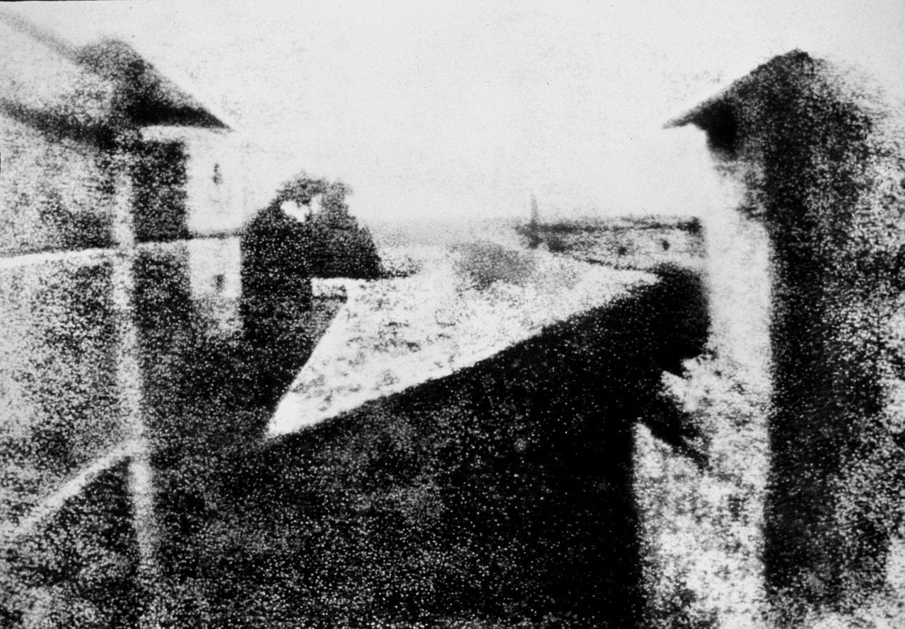 The first photograph by Joseph Nicéphore Niépce