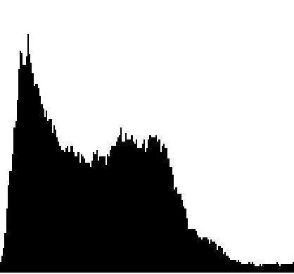 Histogram of underexposed image