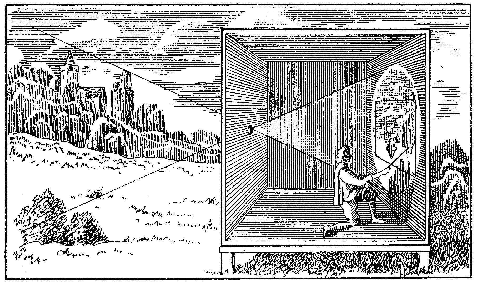 Illustration of an old camera room