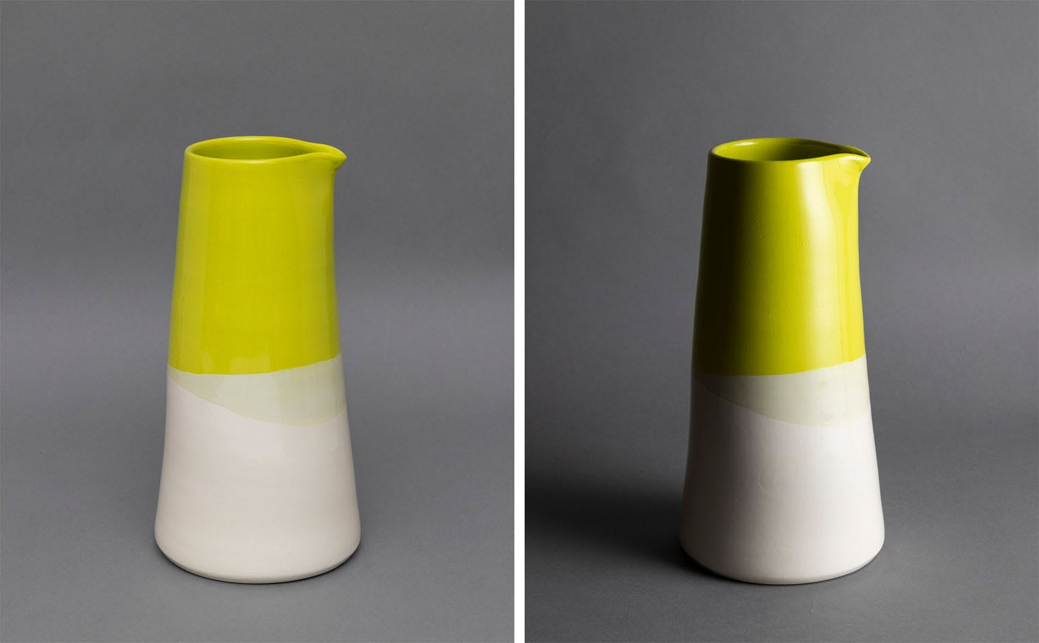 Vase lit from different positions