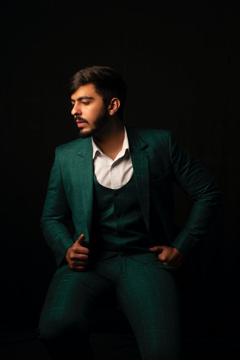 Man in suit in dark lighting
