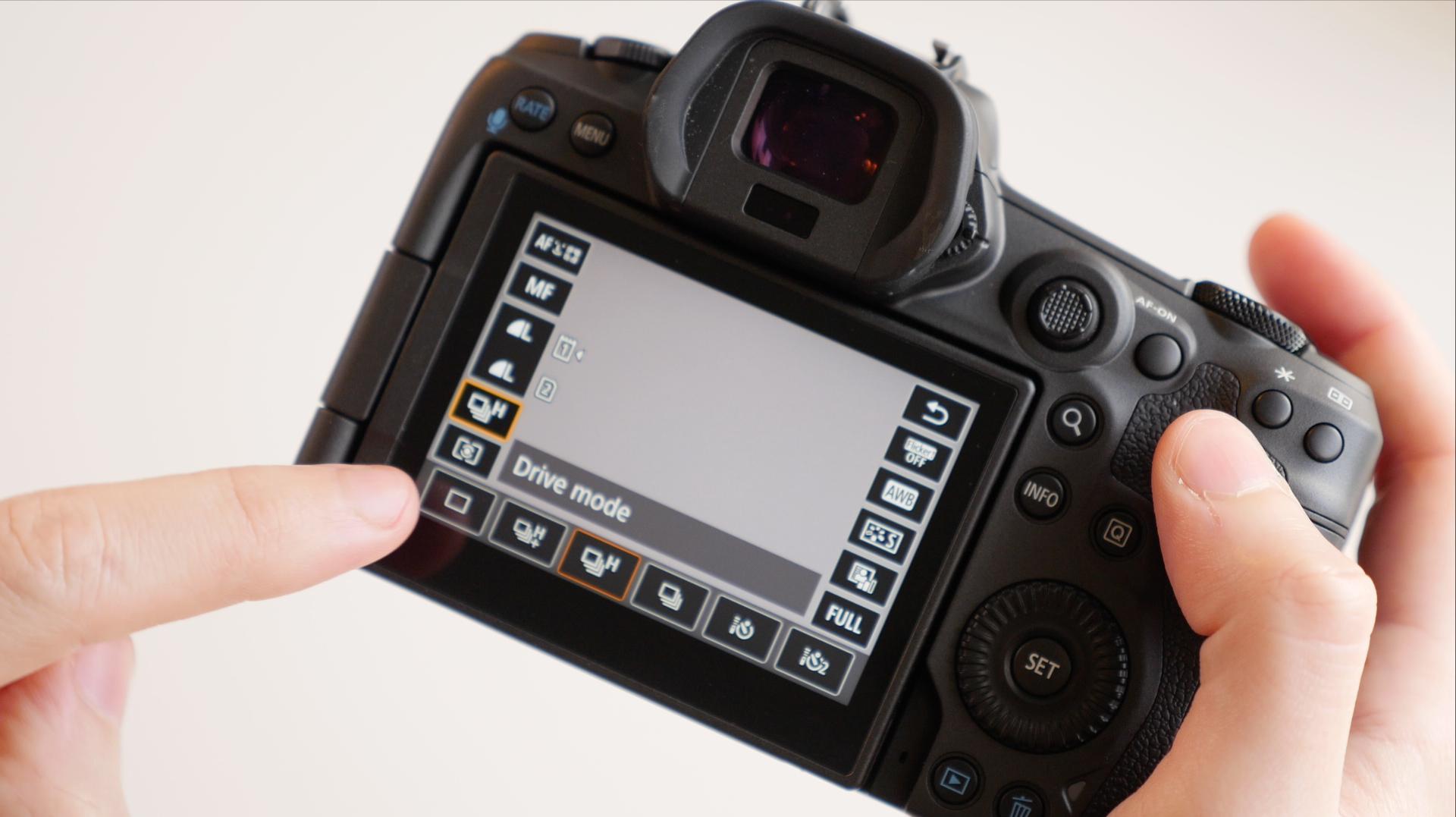 Touchscreen controls on EOS R5