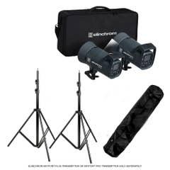 Elinchrom ELC 500/500 Flash Set + Stand Set