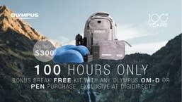 """Olympus 100 Year Sale """"Break Free""""  Backpack Kit"""