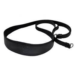 Leica 14455 Wide Camera Carrying Strap in Black Saddle Leather with Shoulder Section