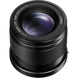 Panasonic Lumix G 42.5mm f/1.7 ASPH. POWER O.I.S. Lens - Black (H-HS043E-K)