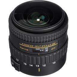 Tokina AT-X 10-17mm f3.5-4.5 Fisheye Lens NO HOOD - Canon Mount