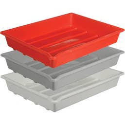 """Paterson Plastic Developing Trays for 5x7"""" Paper (Set of 3 One of Each Color)  PTP332"""