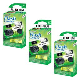 Fujifilm QuickSnap Flash Superia 400 - 27 Exp Disposable Cameras (3 Camera Pack)