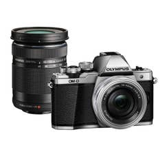 OM-D E-M10 Mark II Silver Body | 14-42mm EZ & 40-150mm R Black Lenses