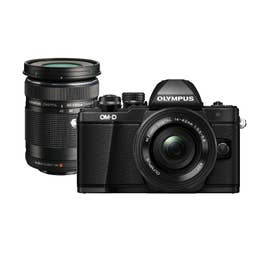 OM-D E-M10 Mark II Black Body | 14-42mm EZ and 40-150mm R Black Lenses