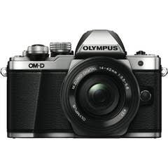 OM-D E-M10 Mark II Silver Body | 14-42mm EZ Black lens