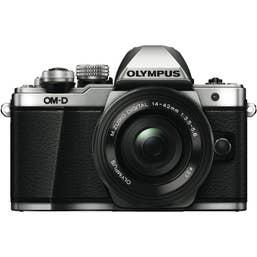 OM-D E-M10 Mark II Silver Body | 14-42mm EZ Black lens