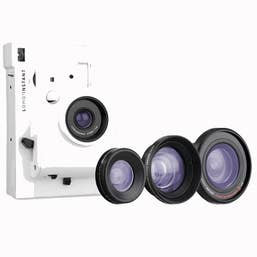 Lomography Lomo'Instant and 3 Lenses Kit - White (LI800W)