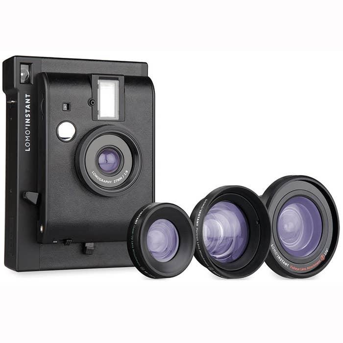 Lomography Lomo'Instant and 3 Lenses Kit - Black (LI800B)