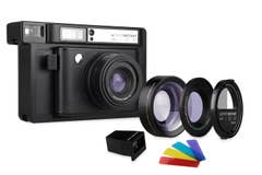 Lomography Lomo'Instant Wide Camera, 2 Lenses and Splitzer Combo - Black (LI900B)