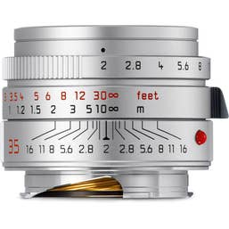 Leica Summicron-M 35mm f/2.0 Aspherical Lens - Silver  -  11674