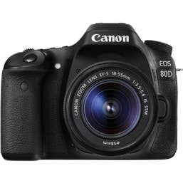 Canon EOS 80D DSLR Camera with 18-55mm Lens