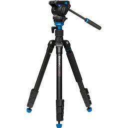 Benro Aero4 Travel Angel Video Tripod with Leveling Column   (A2883FS4)