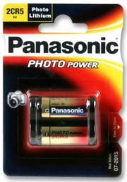 Panasonic 2CR5 Photo Lithium Battery   (2CR-5W/1BE)