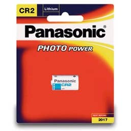 Panasonic CR2  3V Photo Lithium Battery  (CR-2W/1BE)