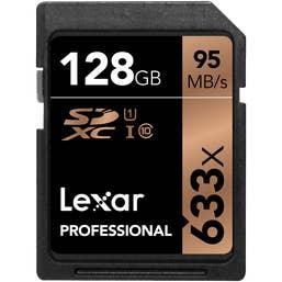 Lexar Professional 128GB 633x SDHC Card UHS-I