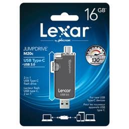 Lexar 16GB JumpDrive M20c USB Type-C Flash Drive