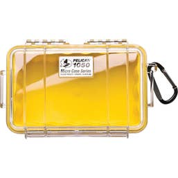 Pelican 1050 Micro Case - Clear with Yellow Liner