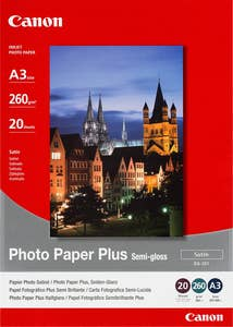 Canon Semi Gloss Photo Paper A3  20 Sheets  (SG201A3)