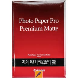 Canon Photo Paper Pro Premium Matte A3+ - 20 Sheets  (PM101A3+)