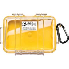 Pelican 1020 Micro Case - Clear with Yellow Liner