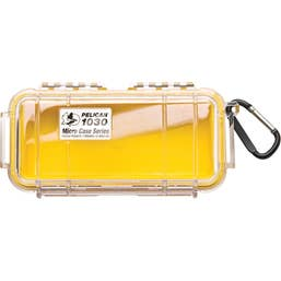 Pelican 1030 Micro Case - Clear with Yellow Liner