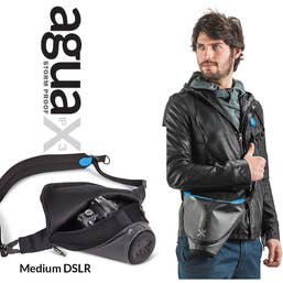 Miggo Agua 35 Stormproof Holster for Medium DSLR Cameras (Black-Blue)