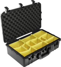 Pelican Air 1555 Case with Padded Dividers - Black    (1555AIRBWD)