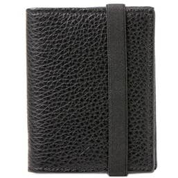 "Barber Shop ""Pixie"" Leather Organizer - Grained Black"