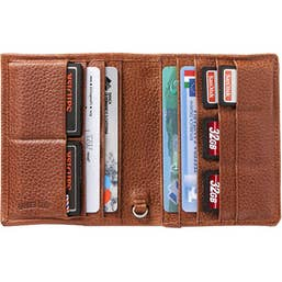 "Barber Shop ""Pixie"" Leather Organizer - Grained Brown"