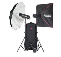 Bowens XMS750 Flash2 Head Kit Incl Stands, Brolly, SoftBox, Remote and Case - Generation X