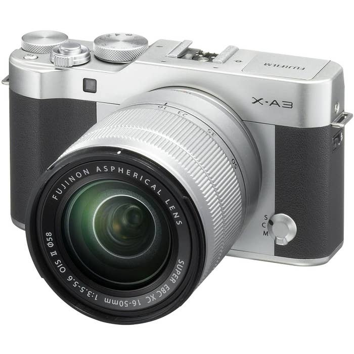 Fujifilm X-A3 Mirrorless Digital Camera with 16-50mm f/3.5-5.6 OIS II Lens  (Silver)
