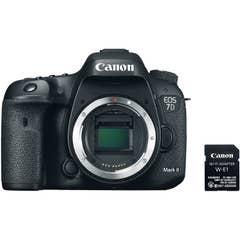 Canon EOS 7D Mark II DSLR Camera Body with W-E1 Wi-Fi Adapter