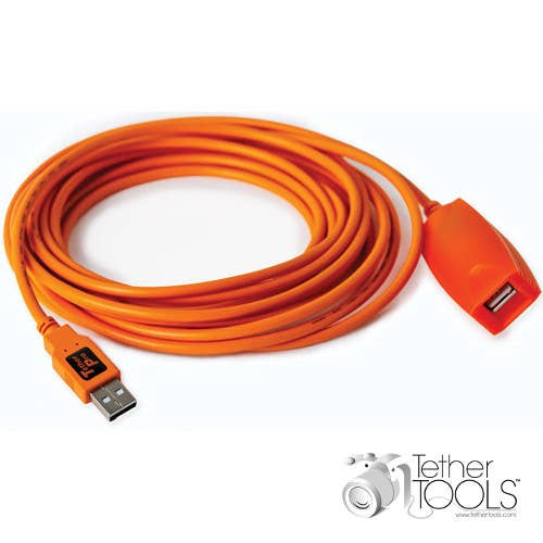 Tether Tools TetherPro USB 2.0 Active Extension Cable (5m Orange)