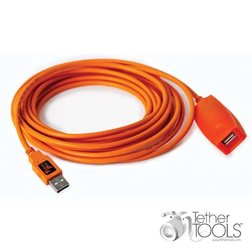 Tether Tools 5m TetherPro USB 3.0 Active Extension Cable (Hi-Visibility Orange)