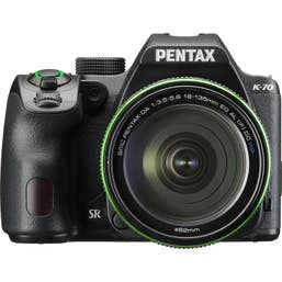 Pentax K-70 DSLR Camera with 18-135mm Lens (Black)
